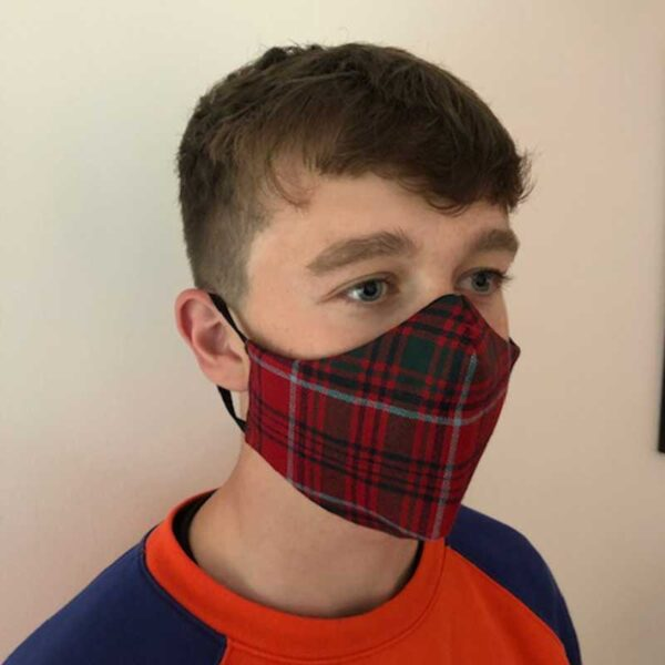 Shaped Tartan Face Masks